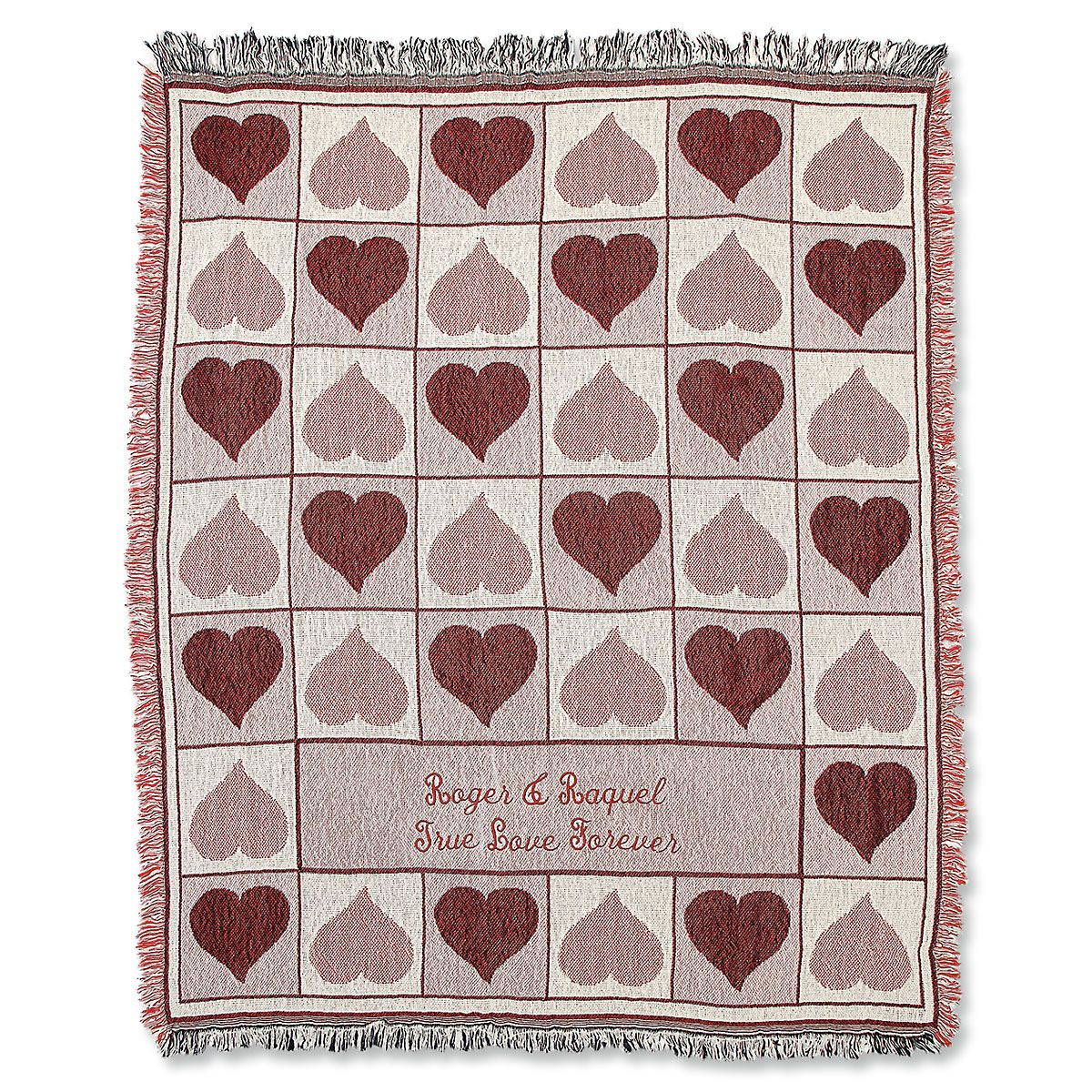 Personalized Valentine Custom Throw