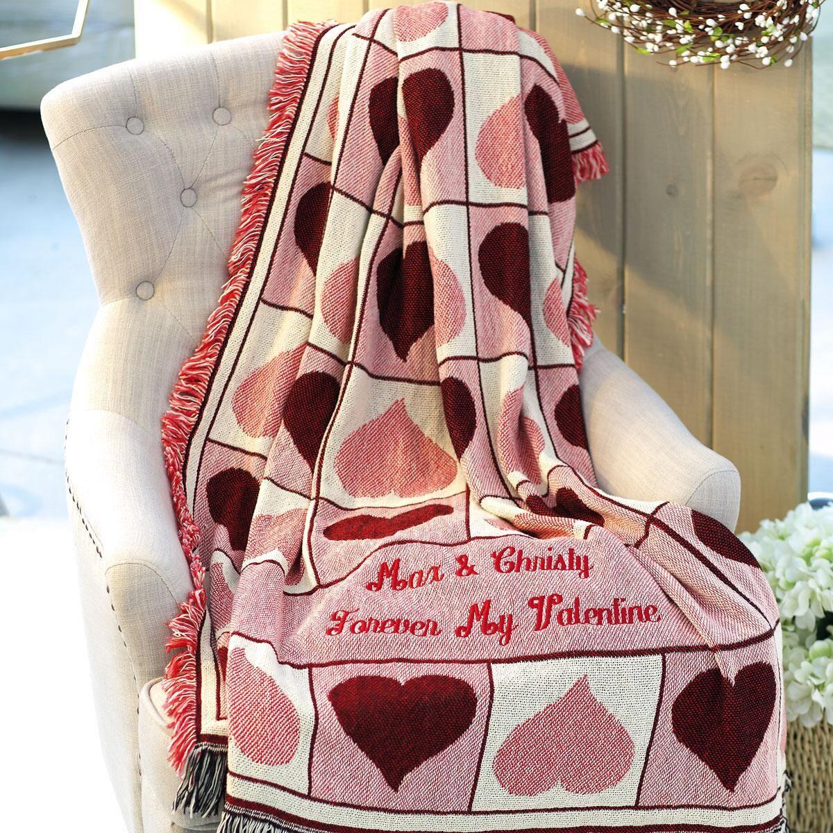 Personalized Valentine Custom Throw
